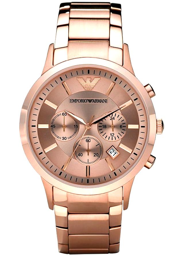 Часы Наручные Мужские Emporio Armani AR2452 Золотистые