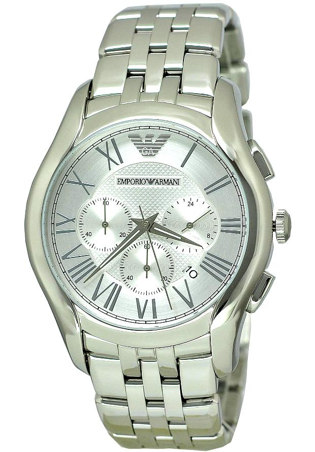 Часы Стальные Мужские Emporio Armani Серебристые AR1702
