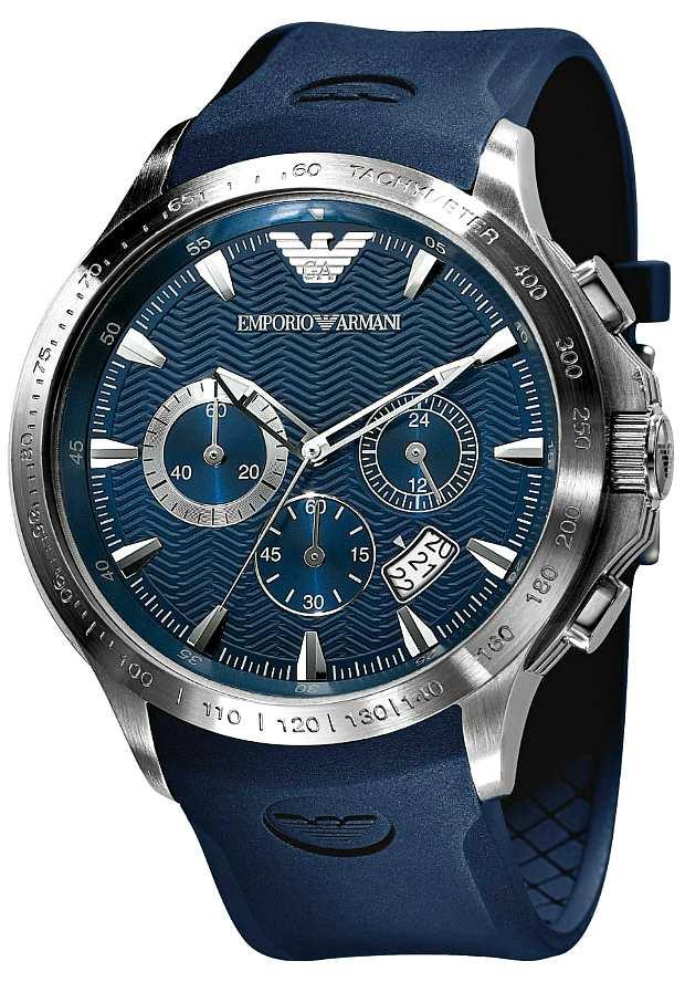 Синие Мужские Часы Emporio Armani Спортивные AR0649