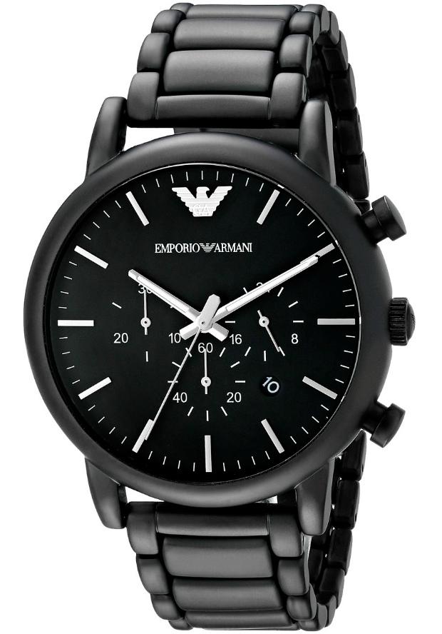 Черные Часы Emporio Armani Мужские Металлические AR1895