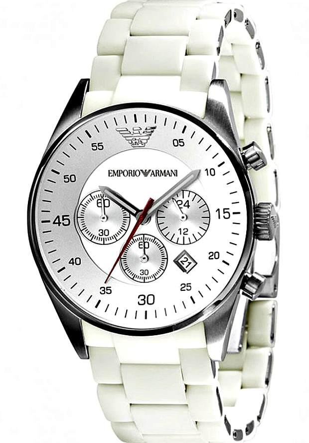 Мужские Часы Emporio Armani Белые Sportivo AR5859