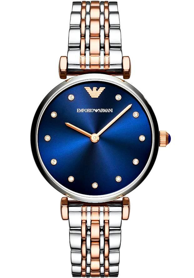 Часы Женские Emporio Armani AR11092 с синим циферблатом