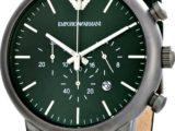 Наручные Мужские Часы Armani AR1950 зеленый ремешок